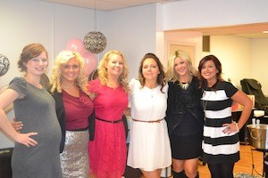 The Beauty Bar team at their 5 year anniversary. (left to right) 5 year anniversary open house: From left to right: Kristen Fletcher, Alyssa Smith,  Crystal Carter-owner, Sunny Hagen, Lindsey Sams and Jamie Carter