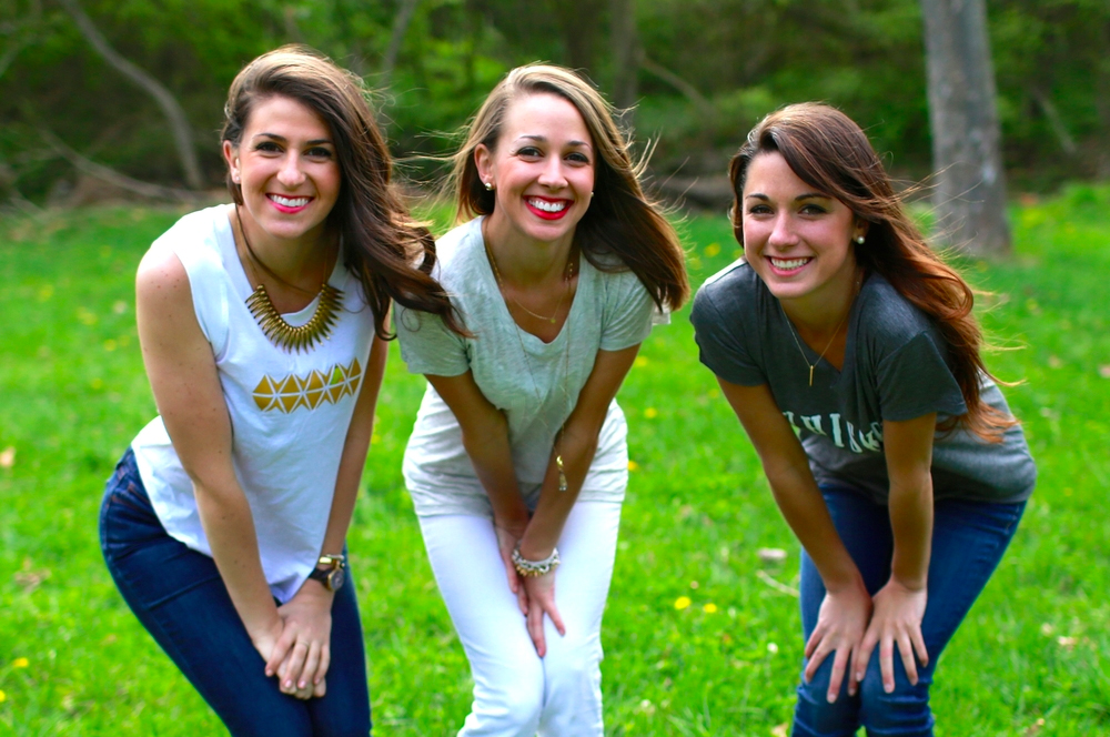Christine, Michele and Melyssa Kirn, the three sisters behind Olivia Lane Designs.