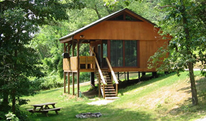 Big Rock Cabins in Beaver Township is a secluded getaway that many couples favorite for their anniversary getaway.