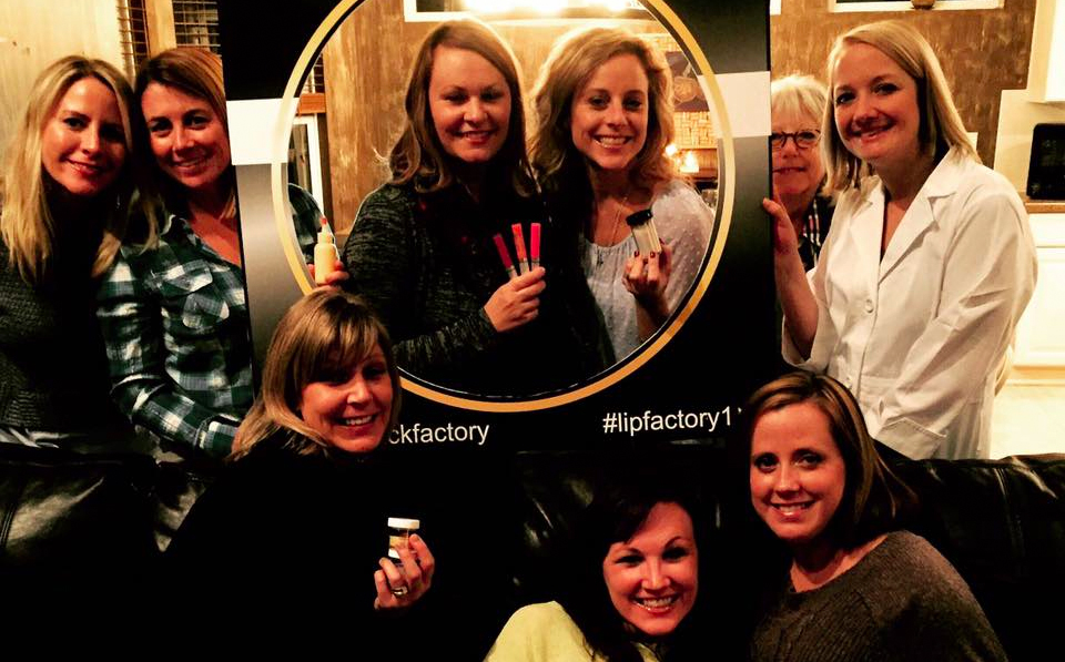 The Lipstick Factory offers in-home parties that allow you to create your very own lipstick.