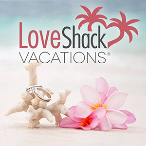 LoveShack Vacations offers destination wedding packages for couples.