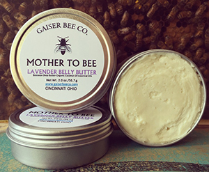 All-natural belly butter from Gaiser Bee Co.