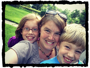 The Little Things founder Katie Scheper with her children.