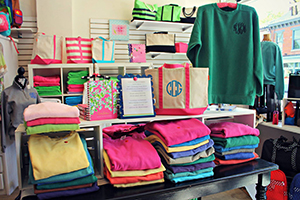 Choose from a variety of items and personalized monograms.