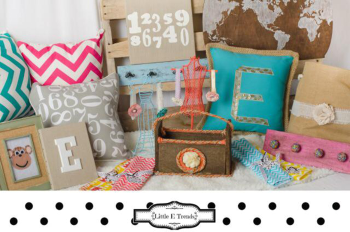 Little E Trends sells homemade children's gifts and decor.