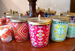 Candles are one of the many items carried by Lolli's.