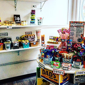 You'll find recent candies as well as candies from the 80s and beyond at OTR Candy Bar.