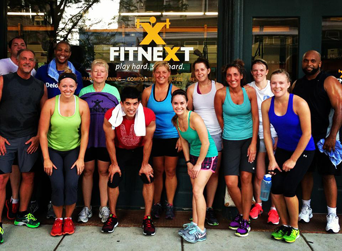Fitnext LLC offers group fitness classes with people you know.
